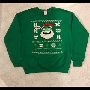 Ugly Christmas sweater in kelly green size Small